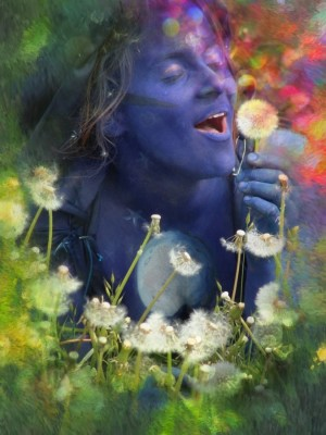 Canvaslane Blau Canvas Painting