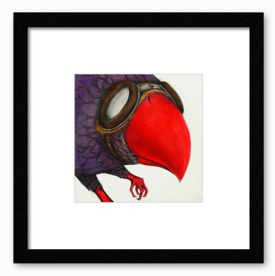 Dreambolic Red Beak Poster Digital Reprint Painting