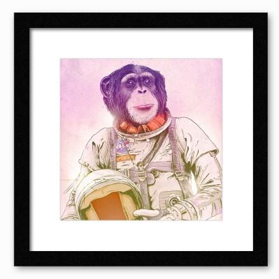 Dreambolic Space Chimp Poster Digital Reprint Painting