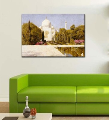 Tallenge Modern Masters Collection - The Taj Mahal by Edwin Lord Weeks - Ready To Hang Gallery Wrap Canvas Art Print Of Oil Painting