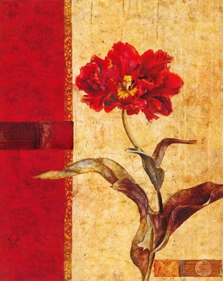 Painting Mantra Affluent Floral Print Canvas Painting