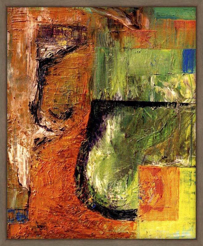 WallsnArt Abstract Framed without Glass Oil Painting(16 inch x 12 inch)