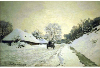 Snapgalaxy Art Panel - Monet - Orsay-brut Canvas Painting