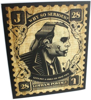 Graphicurry Why So Serious Stamp Canvas Painting