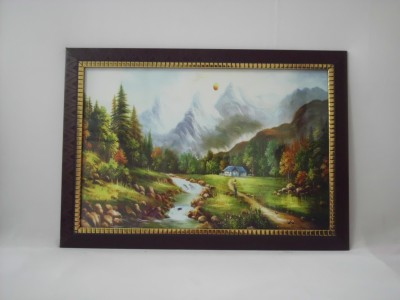 Quality Mart Nature View With Frame Canvas Painting