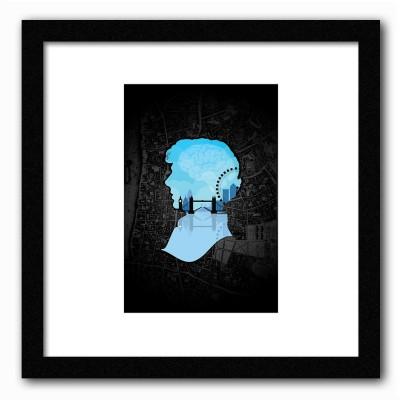 Dreambolic Sherlocks,S London Poster Digital Reprint Painting