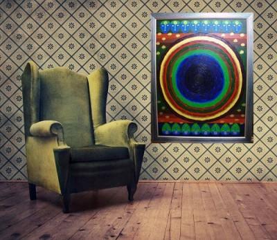 JP Hardware BUDDHA MEDITATION BY MONKS Acrylic Painting