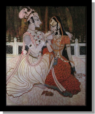 Yudezine Royal King and Queen Canvas Painting