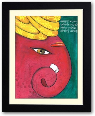 Uncommon Stuffs Ganesha with a Turban Canvas Painting