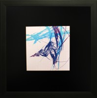 SAF Textured Print with UV Canvas Painting(12 inch x 12 inch)