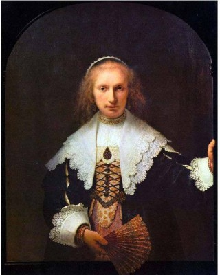 Snapgalaxy Art Panel - Portrait of Agatha Bas by Rembrandt Canvas Painting