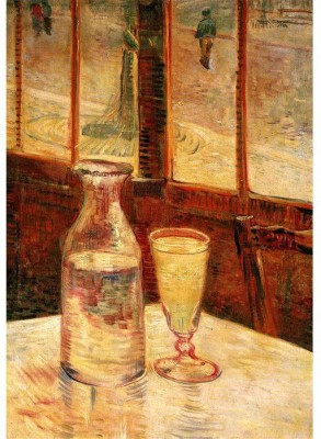 Snapgalaxy Art Panel - The Still Life with Absinthe Canvas Painting