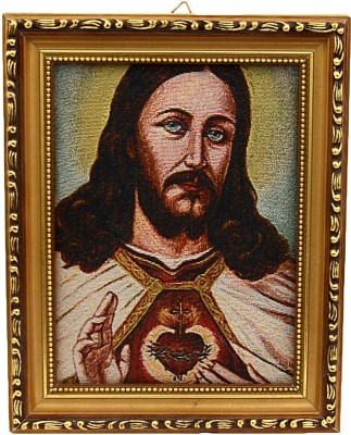 Fashion Envoy Wonderful Jesus Painted Photo Frame Natural Colors Painting