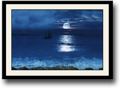 Artifa Moon shadow in the water Canvas Painting