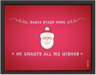 TwoGud Christmas Special- Santa stays here Digital Wall Art Ink Painting