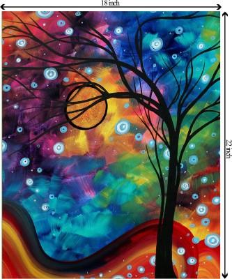 Tiedribbons On The Sea Edge unframed Cotton Medium Grain Canvas Roll (Set of 1)(Multicolor)