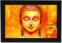MLH Handicraft Buddha Gift Set With UV Print Digital Reprint Painting(9.5 inch x 13.5 inch)