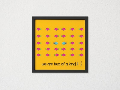 TwoGud Two of a kind (fish) Digital Print Wall Art Ink Painting