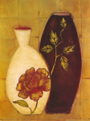 Painting Mantra Floral Vase Oil Painting Print Canvas Painting