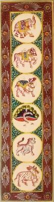 Indiana Mnrsilk- Six Symbolic Animals Canvas Painting