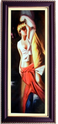Shree Sai Beautifull Girl Canvas Wall Painting for Room Canvas Painting