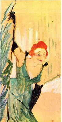 Snapgalaxy Art Panel - Yvette Guilbert greets the Audience by Toulouse-Lautrec Canvas Painting