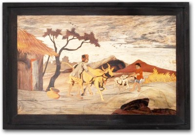 Designer Lanes ,Playtime, Rosewood Wall Panels Natural Colors Painting