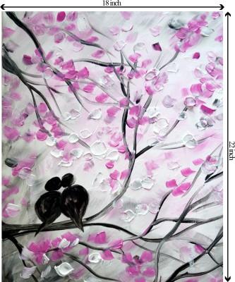 Tiedribbons In Love_ Oil Paints Theme unframed Cotton Medium Grain Canvas Roll (Set of 1)
