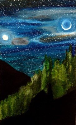 Clovation If Earth Had Two Moons Oil Painting