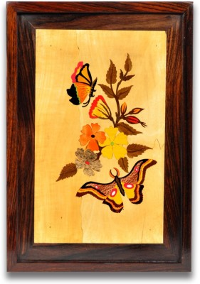Designer Lanes ,Butterflies, Rosewood Wall Panels Natural Colors Painting