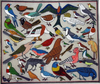 Buy Sell Craft Birds Pattachitra Traditional Art Canvas Painting