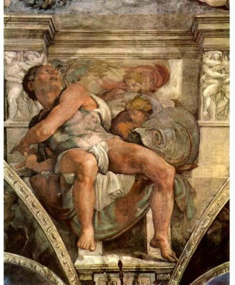 Snapgalaxy Art Panel - The prophet Jonas by Michelangelo Canvas Painting
