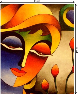 Tiedribbons Sheer Romance unframed Cotton Medium Grain Canvas Roll (Set of 1)(Multicolor)
