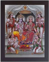 G T India Shri Ram Darbar with white Background Digital Reprint Painting(18 inch x 14 inch)