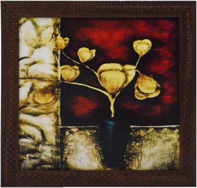 eCraftIndia Flower Pot Showpiece  -  29 cm(Wooden, Paper, Multicolor)