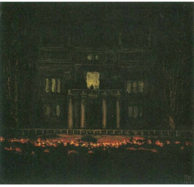 Snapgalaxy Art Panel - Torches by Franz von Stuck Canvas Painting