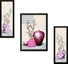 SAF Set of 3 Flowers Digital Reprint Painting(13.5 inch x 22 inch)