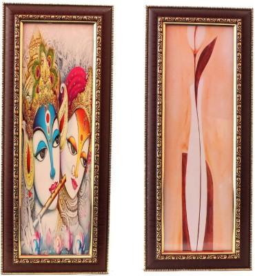 Aarzool Krishna & Flower Canvas Painting