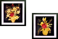 SAF Floral Set Of 2 Ink Painting(12 inch x 12 inch)