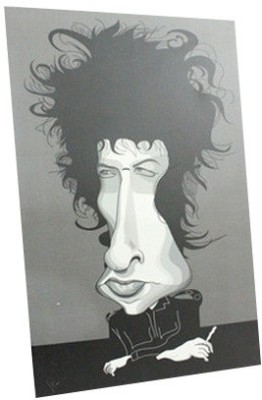 Graphicurry Bob Dylan Digital Reprint Painting