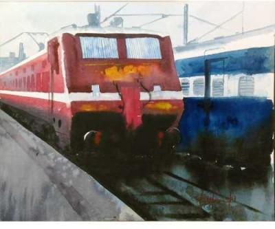 Craffitorium eServices Pvt. Ltd. Urban Pleasure Watercolor Painting
