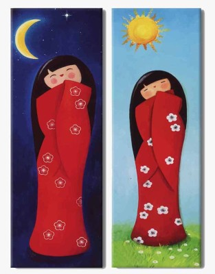 Painting Mantra Day & Night 2 Piece Art Set for children Canvas Painting