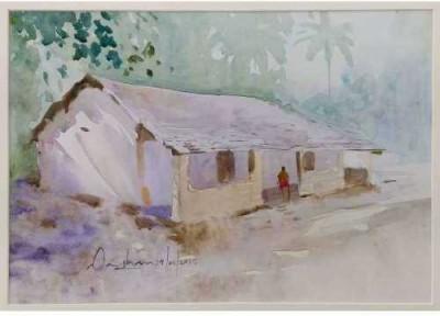 Craffitorium eServices Pvt. Ltd. Rural Goa Watercolor Painting
