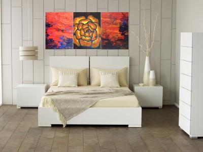 JP Hardware YELLOW ROSE Acrylic Painting