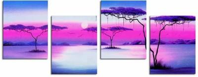 Painting Mantra Sunrise Art Set - 4 piece Canvas Painting