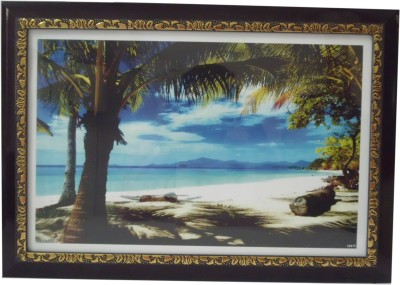 Quality Mart Beach Side With A Frame Canvas Painting