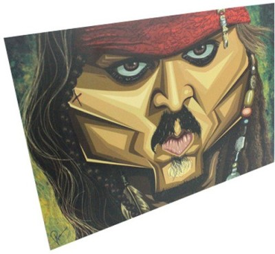 Graphicurry Jack Sparrow Digital Reprint Painting