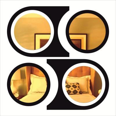 Rkason Matte Black & Gold Mirror Wall Art Acrylic Painting