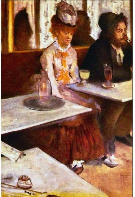 Snapgalaxy Art Panel - Absinthe Drinkers by Degas Canvas Painting
