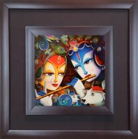 SAF Double Frame Oil Painting(12 inch x 12 inch)
